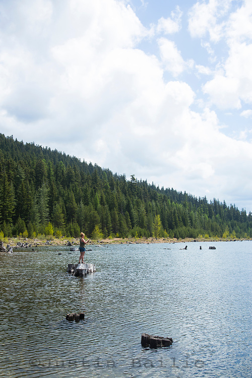 Camping at Clear Lake, Oregon