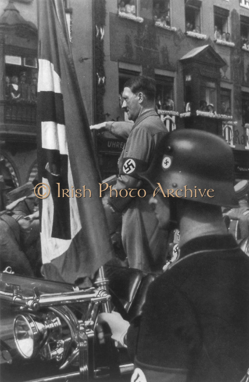 Adolf Hitler, 1889-1945. Photographed at NSDAP rally in Nuremberg 1923.
