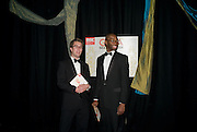 GAVIN PLUMLEY; TYRRELL ALVIN MCCREARY  , The Royal Shakespeare Company (Stratford) fundraising dinner and auction to benefit company's Artists' Development Programme. Lawrence Hall, Greycoat St. London. 28 October 2008 *** Local Caption *** -DO NOT ARCHIVE-© Copyright Photograph by Dafydd Jones. 248 Clapham Rd. London SW9 0PZ. Tel 0207 820 0771. www.dafjones.com.
