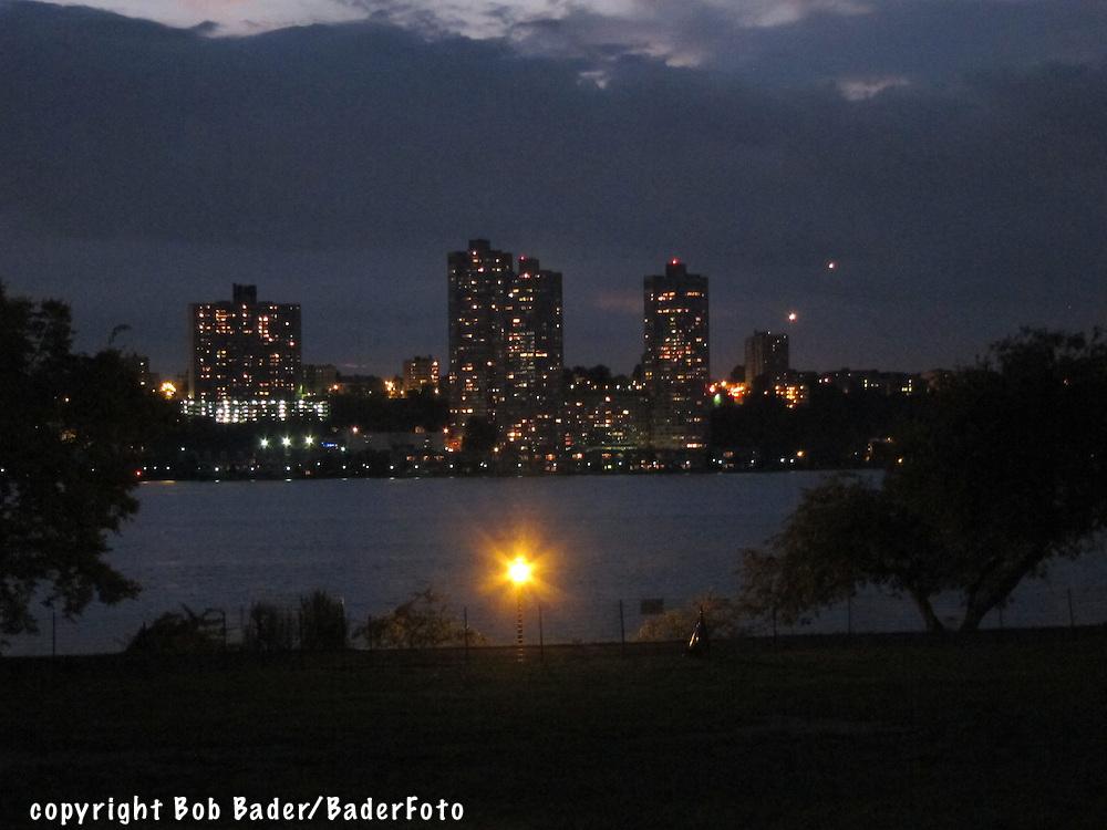 New Jersey shoreline across the Hudson River from Riverside Park in New York City