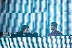 Surgeon and Lady Starlight play the slam tent. Sunday, 12th July 2015, day three at T in the Park 2015, at its new home at Strathallan Castle.
