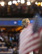 Hillary Rodham Clinton, the first female presidential nominee of the USA accepts the nomination.