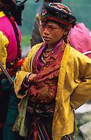 Nepal,  Pelerinage shaman de Gosainkund, Chamane de l'ethnie Tamang. // Nepal. Shaman pilgrinage of Gosainkund, Tamang ethnic group.