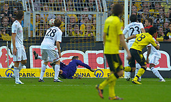 03.10.2010, Signal Iduna Park, Dortmund, GER, 1.FBL, Borussia Dortmund vs Bayern Muenchen im Bild 1:0 Lucas Barrios ( Dortmund #18 )    EXPA Pictures © 2010, PhotoCredit: EXPA/ nph/  Kokenge+++++ ATTENTION - OUT OF GER +++++