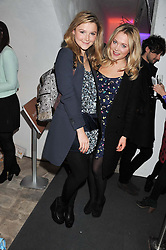 Left to right, AMBER ATHERTON and at the launch of Maison Triumph, 71 Monmouth Street, Covent Garden, London on 14th February 2013.