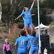 BERKELEY, CA - NOVEMBER 08:  Zack Bonte #2 of UCLA and Thomas Robles #1 of California fight for the ball during the PAC Rugby 7's Championship between UCLA and California at Witter Rugby Field at the University of California on November 8, 2015 in Berkeley, California. California won the match by a score of 17-5. (Photo by Alex Menendez/Getty Images) *** Local Caption *** Zack Bonte; Thomas Robles