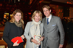 Left to right, ALICE IRWIN, ANNABEL ELLIOT and BEN ELLIOT at the Fortnum & Mason and Quintessentially Foundation Fayre of St.James's in association with The Crown Estate held at St.James's Church, Piccadilly followed but a reception at Fortnum & Mason, Piccadilly,London on 5th December 2013.