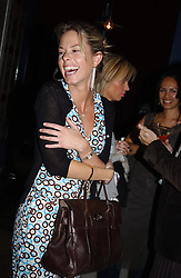 MISS FIONA HENDERSON at a party to celebrate the launch of Michelle Watches held at the Blue Bar, The Berkeley Hotel, London on 7th October 2004.<br /><br />NON EXCLUSIVE - WORLD RIGHTS