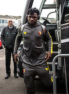 Isaac Success of Watford arrives during the FA Cup match at The Den, London<br /> Picture by Liam McAvoy/Focus Images Ltd 07413 543156<br /> 29/01/2017