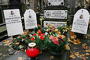 Warsaw, Poland. Powazek Cemetery on All Saints Day.
