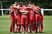 Canterbury United players huddle before the Handa Premiership football match, Hawke's Bay United v Canterbury United, Bluewater Stadium, Napier, Sunday, December 06, 2020. Copyright photo: Kerry Marshall / www.photosport.nz