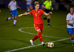 NEWPORT, WALES - Thursday, October 22, 2020: Wales' Rhiannon Roberts during the UEFA Women's Euro 2022 England Qualifying Round Group C match between Wales Women and Faroe Islands Women at Rodney Parade. Wales won 4-0. (Pic by David Rawcliffe/Propaganda)