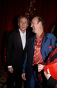 Bill Nighy and tim McInnerny, 'Love Actually after premiere party. the Old In and Out club, Piccadilly, 16 November 2003. © Copyright Photograph by Dafydd Jones 66 Stockwell Park Rd. London SW9 0DA Tel 020 7733 0108 www.dafjones.com