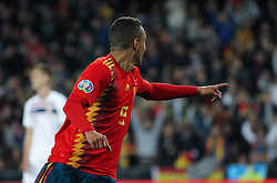 March 23, 2019 - Valencia, Valencia, Spain - Rodrigo of Spain celebrating a goal during European Qualifiers championship, , football match between Spain and Norway, March 23th, in Mestalla Stadium in Valencia, Spain. (Credit Image: © AFP7 via ZUMA Wire)
