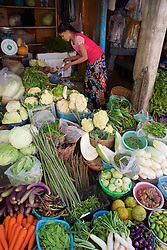 Vegetable Stall, Gyee Zai Market