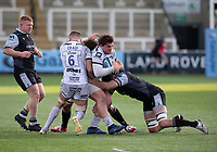 Rugby Union  - 2020 / 2021 Gallagher Premiership - Newcastle Falcons vs Gloucester - Kingston Park<br /> <br /> Val Rapava-Ruskin of Gloucester Rugby is tackled by Marco Fuser of Newcastle Falcons<br /> <br /> COLORSPORT/BRUCE WHITE