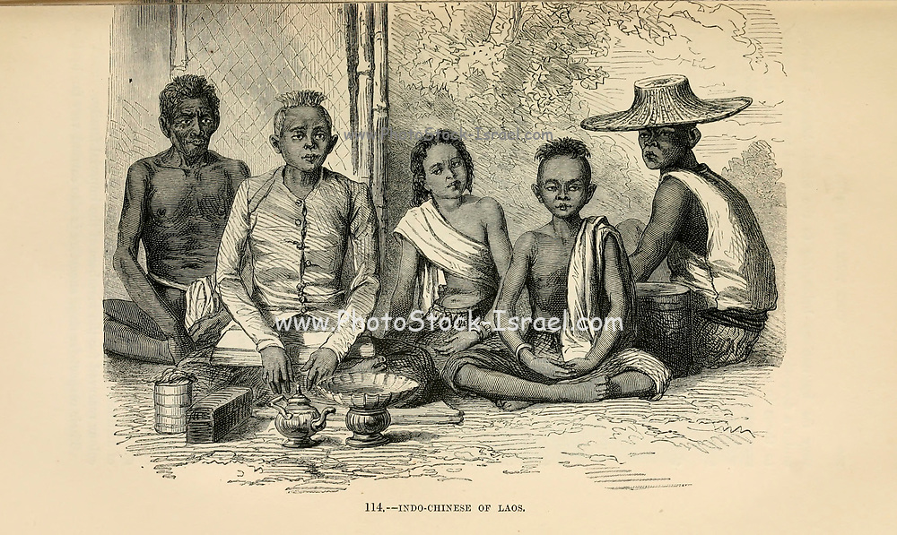 Indo-Chinese [Indochina] Of Laos engraving on wood From The human race by Figuier, Louis, (1819-1894) Publication in 1872 Publisher: New York, Appleton
