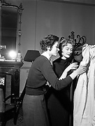 22nd January 1954<br /> <br /> Capel Street, Dublin: Raymond Kenna designs modeled by Mayfair models in advance of a fashion show of Irish tweeds in Paris (31st January 1954).