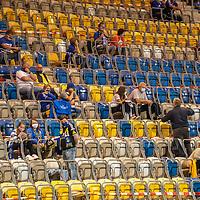 12.09.2020, Ernst-Abbe-Sportfeld, Jena, GER, DFB-Pokal, 1. Runde, FC Carl Zeiss Jena vs SV Werder Bremen<br /> <br /> Stadion  war mit 1600 Besuchern gem Corona auflagen besetzt. Covid-19, Fans, Sitzschale, Abstand<br /> <br /> <br /> Foto © nordphoto / Kokenge