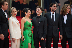 Antoine Pilon, Nancy Grant, Gabriel D'Almeida Freitas, Catherine Brunet, Xavier Dolan, Pier-Luc Funk, Samuel Gauthier and Adib Alkhalidey arriving on the red carpet of 'Matthias Et Maxime (Matthias and Maxime)' screening held at the Palais Des Festivals in Cannes, France on May 22, 2019 as part of the 72th Cannes Film Festival. Photo by Nicolas Genin/ABACAPRESS.COM