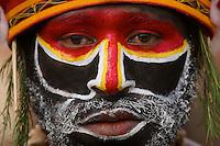 Man from Western Highlands Province..Goroka, Eastern Highlands Province, Papua New Guinea.