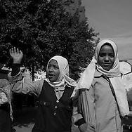 Egypt. Cairo : Naguib Mafouz school in al Gamaliyyah  area.  Islamic Cairo . street life ,      NM32
