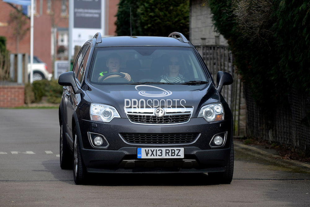 GLOUCESTERSHIRE, ENGLAND – MARCH 12: Stuart Pearce makes his debut for non-league Longford AFC as part of the #directfix campaign by Direct Line. Arriving in car.