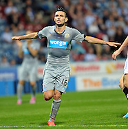 Remy Cabella of Newcastle United celebrates scoring the equaliser during the pre season friendly match at the John Smiths Stadium, Huddersfield<br /> Picture by Graham Crowther/Focus Images Ltd +44 7763 140036<br /> 05/08/2014