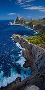 Rugged coastline of Cap de Formentor on Majorca,  Balearic Islands, Mediterranean Sea, Spain