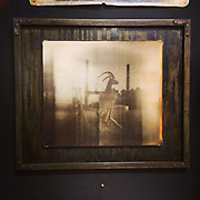 """Modern Industry, Kodak Power Plant, Polaroid""<br /> 18""x20"" archival pigment print of ""Modern Industry, Kodak Power Plant, Polaroid"" shot with the ""Modern Industry"" camera.<br /> #11 of 20, mounted in a custom steel frame."