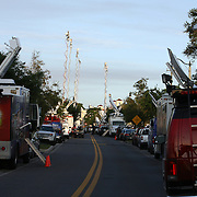 Media from all over the U.S.A. arrived to cover the rally, featuring Al Sharpton, for the shooting of Trayvon Martin on Thursday, March 22, 2012 at Fort Mellon Park in Sanford, Florida. (AP Photo/Alex Menendez) Trayvon Martin rally in Sanford, Florida.