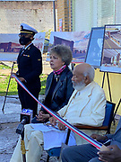 November 25, 2020 Jackson MS  Mississippi Pictured ROTC Brittney Collins, left, Judy Meredith second from left James Meredith and Garling Collins at the ribbon cutting for the future home of the  James Meredith Museum and Bible Society Headquarters as his wife Judy Alsobrooks Meredith looks on.  Native son and the first African American  American to attend the all white University of Mississippi, James Meredith cut a red, white and blue ribbon at the announcement for his Museum & Bible Society Mission HQ in Jackson Mississippi. The Meredith Museum and Bible Society HQ will house Meredith's archive of his 28 self published books, photographs and other artifacts of Merediths life, in addition to being a place where the teaching of Jesus Christ will be taught. It will also be a place where scholars can learn about Meredith, his life's work and his 3 missions from God. The first mission was for Meredith to destroy the white supremacy barrier at One Miss in 1962, the second Mission was to get Blacks to register to vote on his March Against Fear in 1966 and his 3rd Mission is to establish the Bible Society and Musem. Donations can be made to the James Meredith Bible Society and mailed to James Meredith 929 Meadowbrook Road Jackson MS 39206.Photos © Suzi Altman