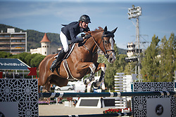 Maher Ben, (GBR), Diva II <br /> First Round<br /> Furusiyya FEI Nations Cup Jumping Final - Barcelona 2015<br /> © Dirk Caremans<br /> 24/09/15