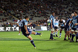 Stephen Brett. Investec Super Rugby - Blues v Waratahs, Eden Park, Auckland, New Zealand. Saturday 16 April 2011. Photo: Clay Cross / photosport.co.nz