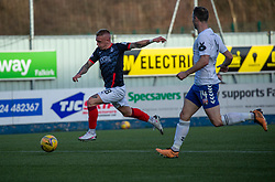 20MAR21 Falkirk's Callum Morrison scoring their second goal. Falkirk 2 v 0 Montrose, Scottish Football League Division One game played 20/3/2021 at The Falkirk Stadium.