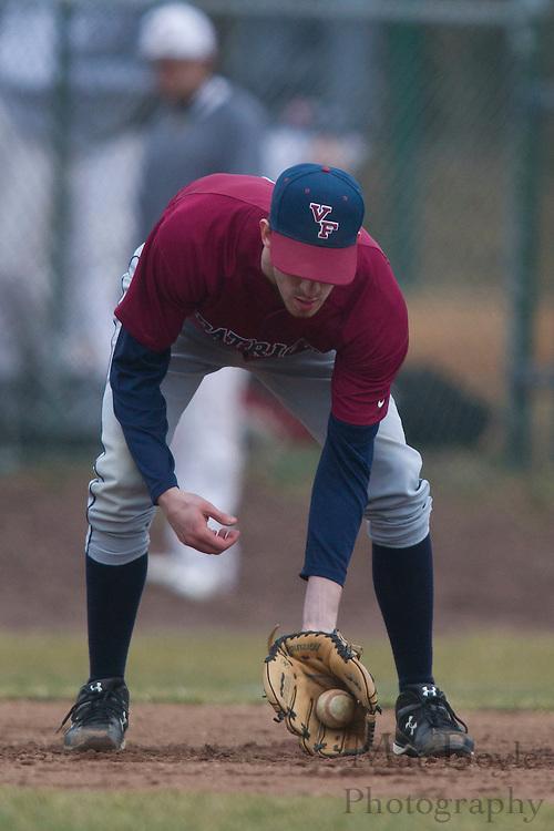 Rowan University Senior Infielder Captain Brandon Winkler (3) - Rowan University baseball vs Valley Forge Christian College at Rowan University in Glassboro, NJ on Friday March 2, 2012.