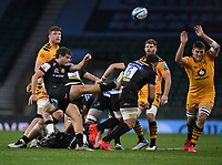 Rugby Union - 2019 / 2020 Gallagher Premiership - Final - Wasps vs Exeter Chiefs - Twickenham<br /> <br /> Exeter Chiefs' Jack Maunder box kicks.<br /> <br /> COLORSPORT/ASHLEY WESTERN