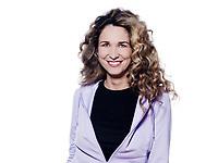 caucasian woman smile cheerful portrait isolated studio on white background