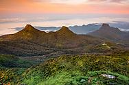 Sunrise in the central highlands, Sri Lanka
