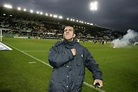 Firenze 9-1-05<br />Campionato di calcio Serie A 2004-05 <br />Fiorentina Lazio<br />nella  foto Di Canio esulta a fine partita<br />Foto Snapshot / Graffiti