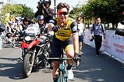 Arrival sprint Dylan Groenewegen (NED - Team LottoNL - Jumbo) winner during the Tour of Guangxi 2018, stage 1, Beihai - Beihai 107,4 km on October 16, 2018 in Beihai, China - Photo Luca Bettini / BettiniPhoto / ProSportsImages / DPPI