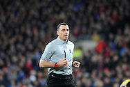 Referee Neil Swarbrick.<br /> Barclays Premier League match, Cardiff city v Manchester Utd at the Cardiff city stadium in Cardiff, South Wales on Sunday 24th Nov 2013. pic by Phil Rees, Andrew Orchard sports photography,