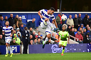 Queens Park Rangers defender Steven Caulker (22) in action during the EFL Sky Bet Championship match between Queens Park Rangers and Reading at the Loftus Road Stadium, London, England on 15 October 2016. Photo by Jon Bromley.