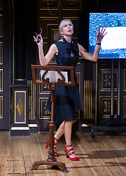 outgoing Laureate Lauren Child talks about her two years as Laureate.<br /> <br /> Announcement of the new Waterstones Children's Laureate Cressida Cowell<br /> at Sam Wanamaker Playhouse, Shakespeare's Globe, London, Great Britain <br /> 9th July 2019<br /> <br /> The new Laureate is presented with the iconic silver medal by outgoing Laureate Lauren Child, followed by a short speech by Cressida Cowell. <br /> <br /> Photograph by Elliott Franks