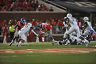 Mississippi Rebels running back Jordan Wilkins (22) at Vaught-Hemingway Stadium at Ole Miss in Oxford, Miss. on Saturday, September 26, 2015. (AP Photo/Oxford Eagle, Bruce Newman)