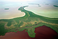 The Lung (blackwater lake) and Mosquito .Point, Everglades National Park, .Florida Bay, Florida (Gulf of Mexico)