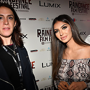Katy Driscoll  is a Raindance PR and Faryal Makhdoom attend World Premiere of Team Khan - Raindance Film Festival 2018 at Vue Cinemas - Piccadilly, London, UK. 29 September 2018.