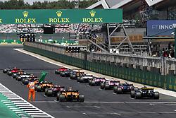 July 8, 2018 - Silverstone, Great Britain - Motorsports: FIA Formula One World Championship 2018, Grand Prix of Great Britain, ..Start  (Credit Image: © Hoch Zwei via ZUMA Wire)