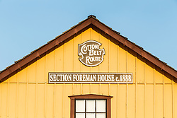 Section Foreman House at Cotton Belt Railroad Depot, Grapevine, Texas USA
