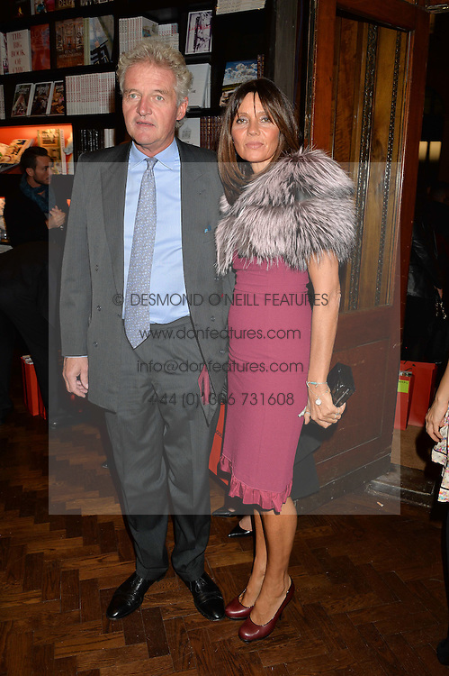 COUNT & COUNTESS LEOPOLD VON BISMARCK at a party to celebrate the launch of the Maison Assouline Flagship Store at 196a Piccadilly, London on 28th October 2014.  During the evening Valentino signed copies of his new book - At The Emperor's Table.
